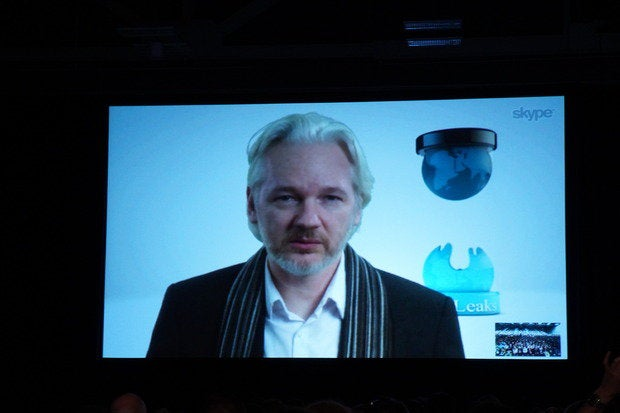 Assange at SXSW: 'Who really wears the pants in the administration?'