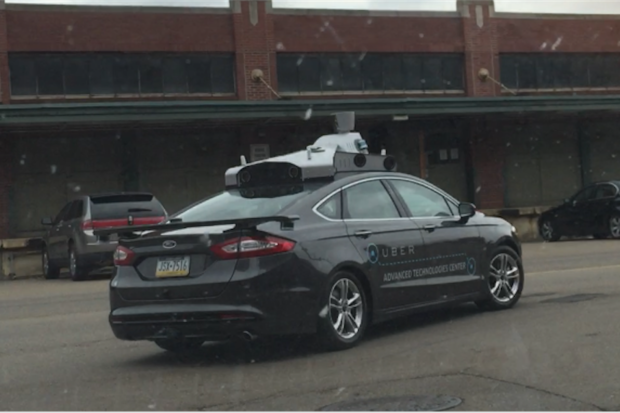 Uber's first autonomous car goes out for a test drive