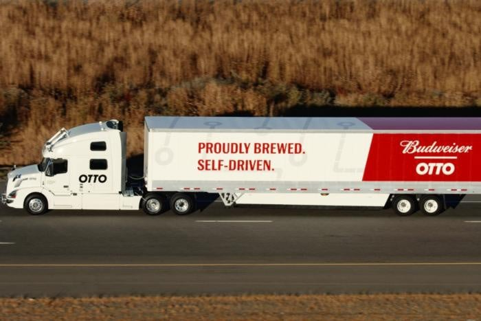 Self-driving 18-wheeler delivers the first shipment: Beer